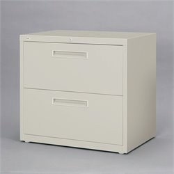 2 Drawer Lateral File Cabinet in Gray