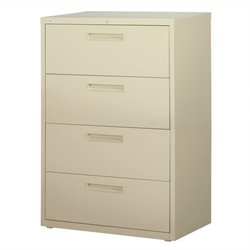 Hirsh Industries 5000 Series 4 Drawer Lateral File Cabinet in Putty