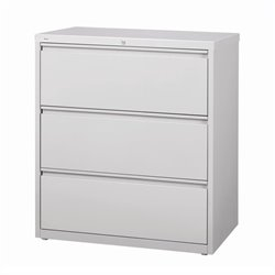 Hirsh Industries 10000 Series 3 Drawer Lateral File Cabinet in Gray