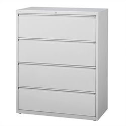 Hirsh Industries 10000 Series 4 Drawer Lateral File Cabinet in Gray