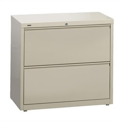Hirsh Industries 10000 Series 2 Drawer Lateral File Cabinet in Putty