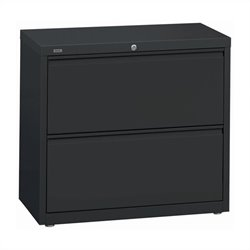 Hirsh Industries 10000 Series 2 Drawer Lateral File Cabinet in Charcoal