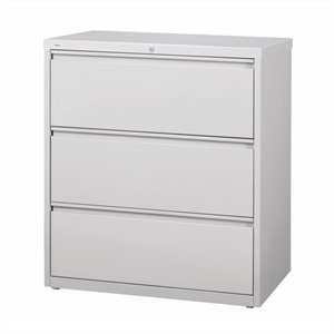 3 Drawer Lateral File Cabinet in Gray