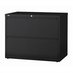Hirsh Industries 10000 Series 2 Drawer Lateral File Cabinet in Black