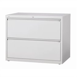 Hirsh Industries 10000 Series 2 Drawer Lateral File Cabinet in Gray
