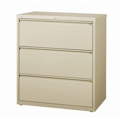 Hirsh Industries 10000 Series 3 Drawer Lateral File Cabinet in Putty
