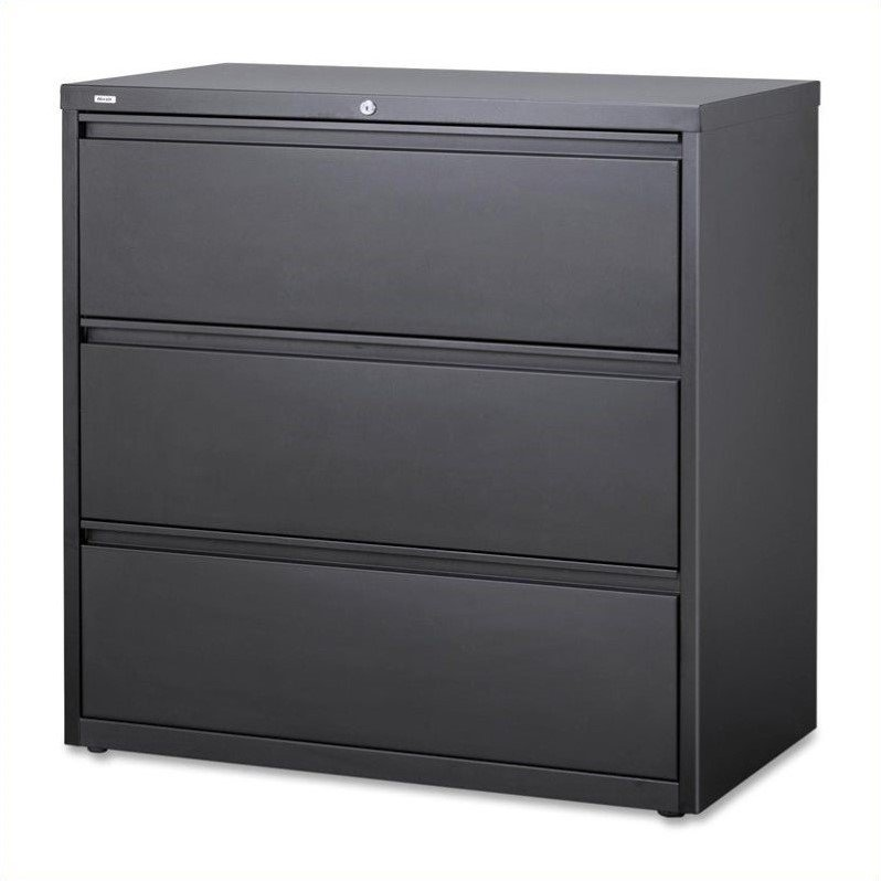 Hirsh Industries 10000 Series 3 Drawer Lateral File Cabinet in Charcoal