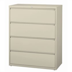 Hirsh Industries 10000 Series 4 Drawer Lateral File Cabinet in Putty