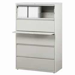 5 Drawer Lateral File Cabinet in Gray