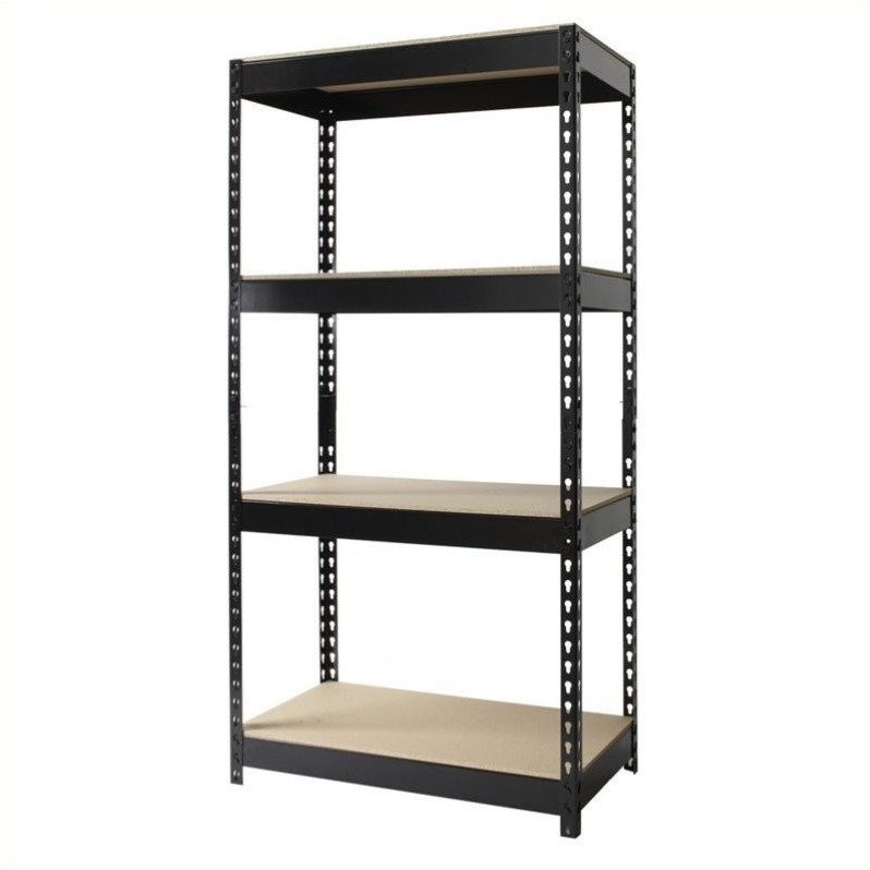 Hirsh Rivet Shelving 30x60 Heavy Duty 4 Shelf Storage Unit