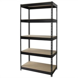 Hirsh Industries LLC Rivet 36x72 Heavy Duty 5 Shelf Storage Unit