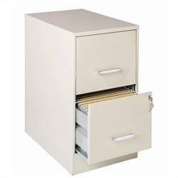Hirsh Industries SOHO 2 Drawer Letter File Cabinet in Stone