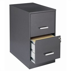 2 Drawer Letter File Cabinet in Charcoal