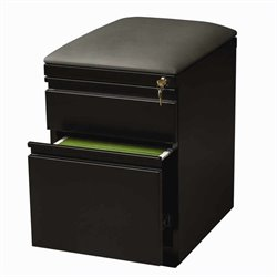 Hirsh Industries Mobile Seat Box-File Cabinet in Black