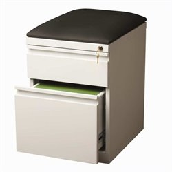 Hirsh Industries Mobile Seat Box-File Cabinet in White