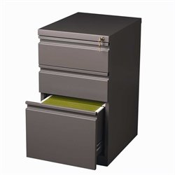 Hirsh Industries 3 Drawer Mobile File Cabinet in Med Tone
