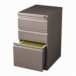Hirsh Industries 3 Drawer Mobile File Cabinet in Met Bronze
