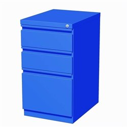 Hirsh Industries 3 Drawer Mobile File Cabinet in Blue