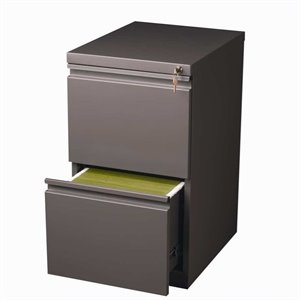 2 Drawer Mobile File Cabinet in Med Tone