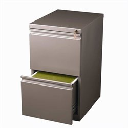 Hirsh Industries 2 Drawer Mobile File Cabinet in Met Bronze
