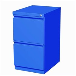 Hirsh Industries 2 Drawer Mobile File Cabinet in Blue