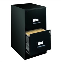 Hirsh Industries 2 Drawer Ultra File Cabinet in Black