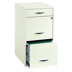 Hirsh Industries 3 Drawer Steel File Cabinet in White