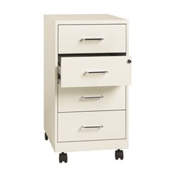 Hirsh Industries 4 Drawer Steel File Cabinet in Pearl White