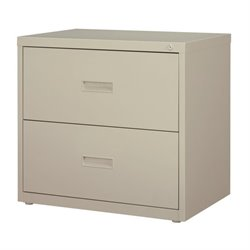 Hirsh 2 Drawer Lateral File Cabinet in Light Gray