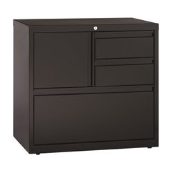Hirsh File Cabinet with Door in Black