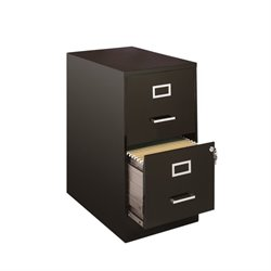2 Drawer File Cabinet in Black