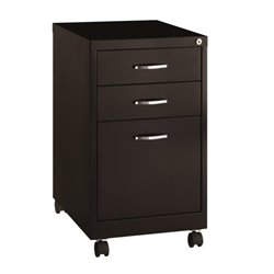 Hirsh SOHO 3 Drawer File Cabinet in Black