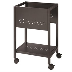 Hirsh RTA File Cart with Shelf in Black