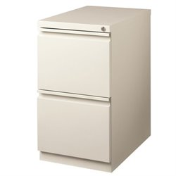 Hirsh 2 Drawer File Cabinet in Light Gray