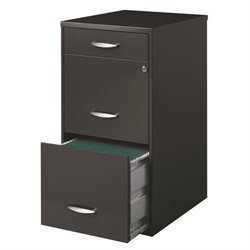 3 Drawer File Cabinet in Charcoal