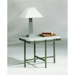 Hammary East Park Rectangular End Table in Gunmetal