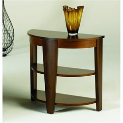 Hammary Oasis Demilune End Table in Cherry/Walnut