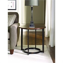 Hammary Nueva Round End Table in Copper