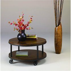 Hammary Baja Round Cocktail Table in Umber