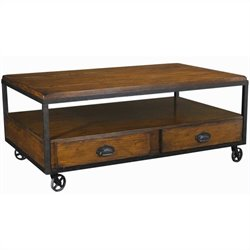 Hammary Baja Rectangular Cocktail Table in Vintage Umber