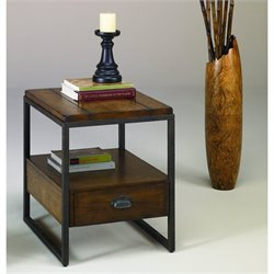 Hammary Baja Rectangular Drawer End Table in Vintage Umber
