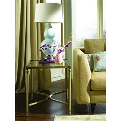 Hammary Elipse Rectangular End Table in Champagne