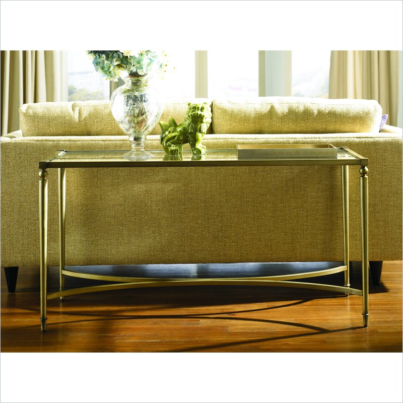 Elipse Sofa Table in Champagne