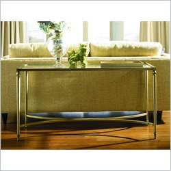 Hammary Elipse Sofa Table in Champagne