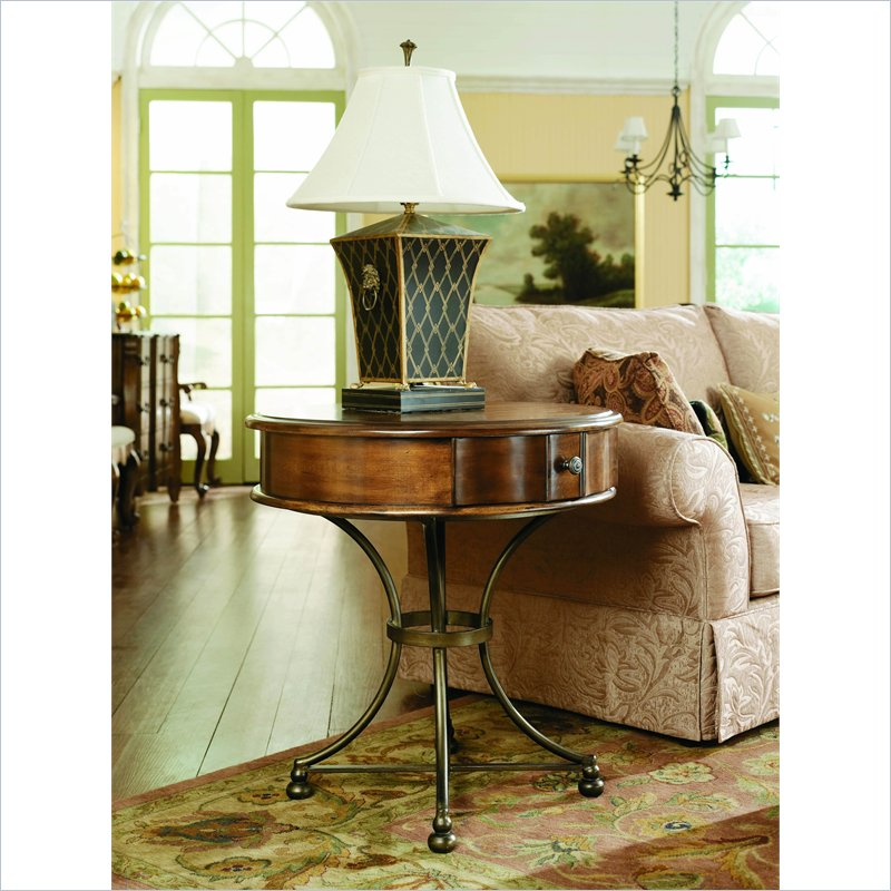 Siena Round Storage End Table in Tuscany