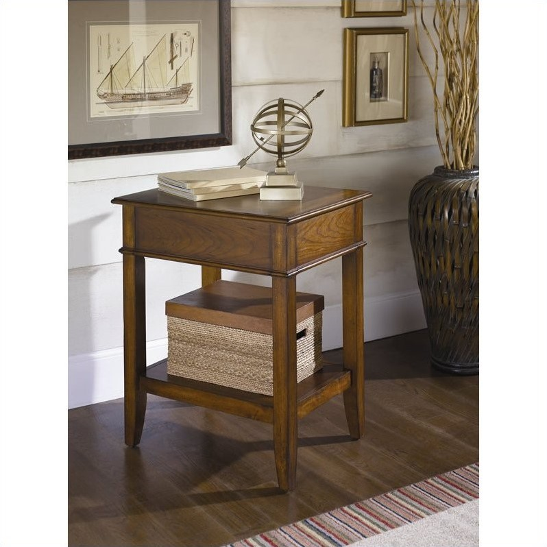 Hammary Mercantile Corner Table in Whiskey Finish