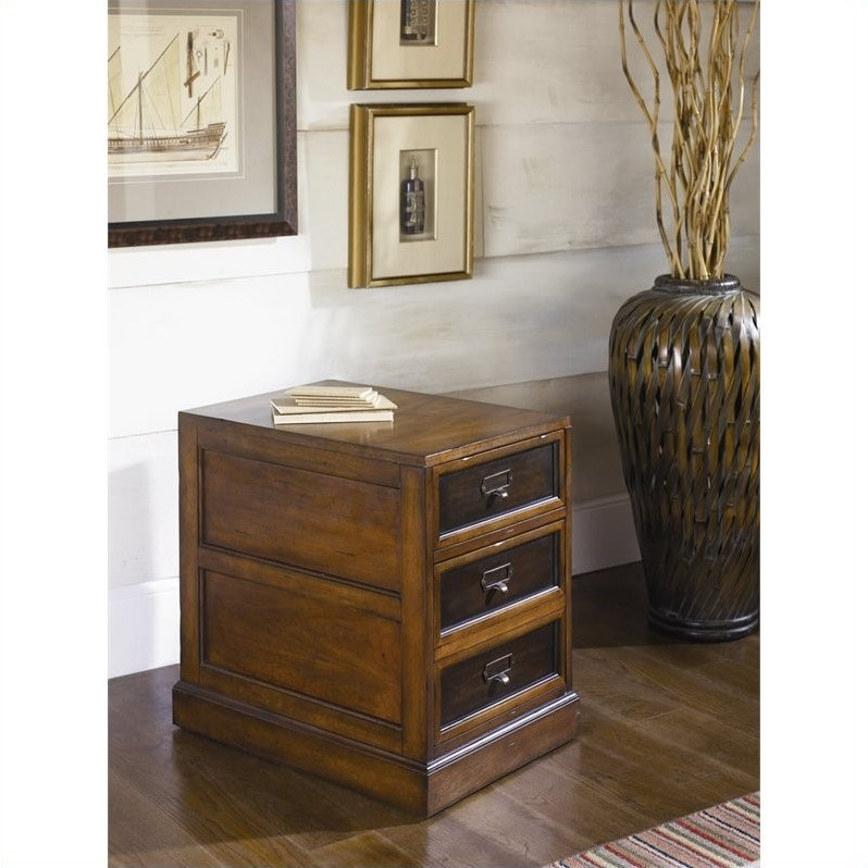 Mercantile Mobile 2 Drawer File Cabinet in Whiskey Finish