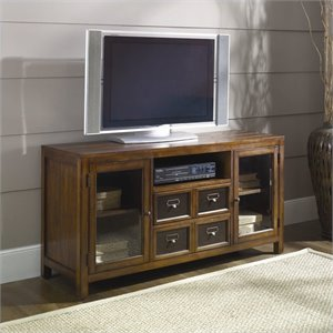 Hammary Mercantile Entertainment Console/TV Stand in Whiskey Finish