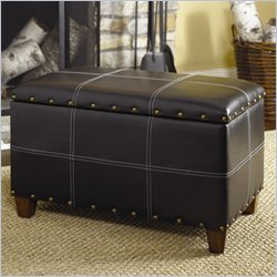 Hammary Hidden Treasures Storage Ottoman Trunk in Black