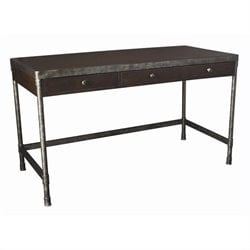 Hammary Structure Credenza Desk in Distressed Brown